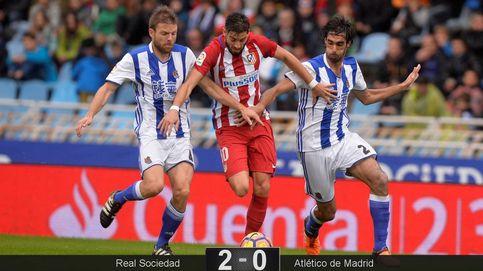 Las estrellas del Atlético se apagan ante el empuje de la Real Sociedad