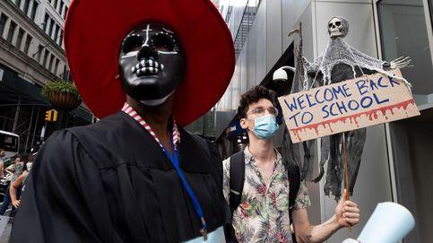 Protesta de profesores en Nueva York