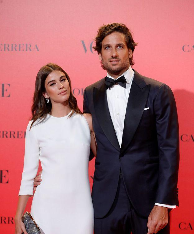 Foto: Feliciano López y Sandra Gago en una imagen de archivo. (EFE)