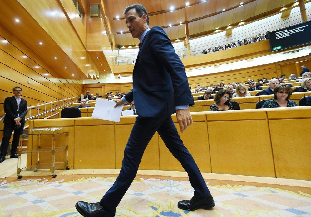 Foto: Pedro Sánchez, durante la sesión de control en el Senado de este 23 de octubre. (EFE)