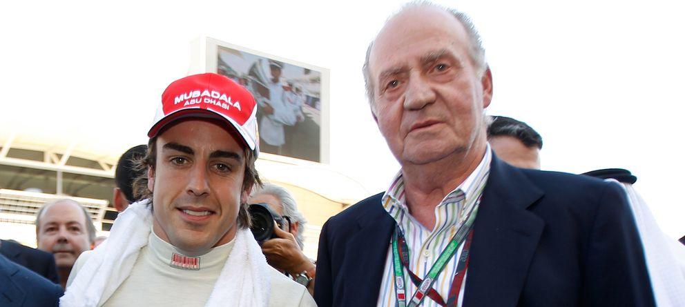 Foto: Fernando Alonso y Don Juan Carlos (Gtres)