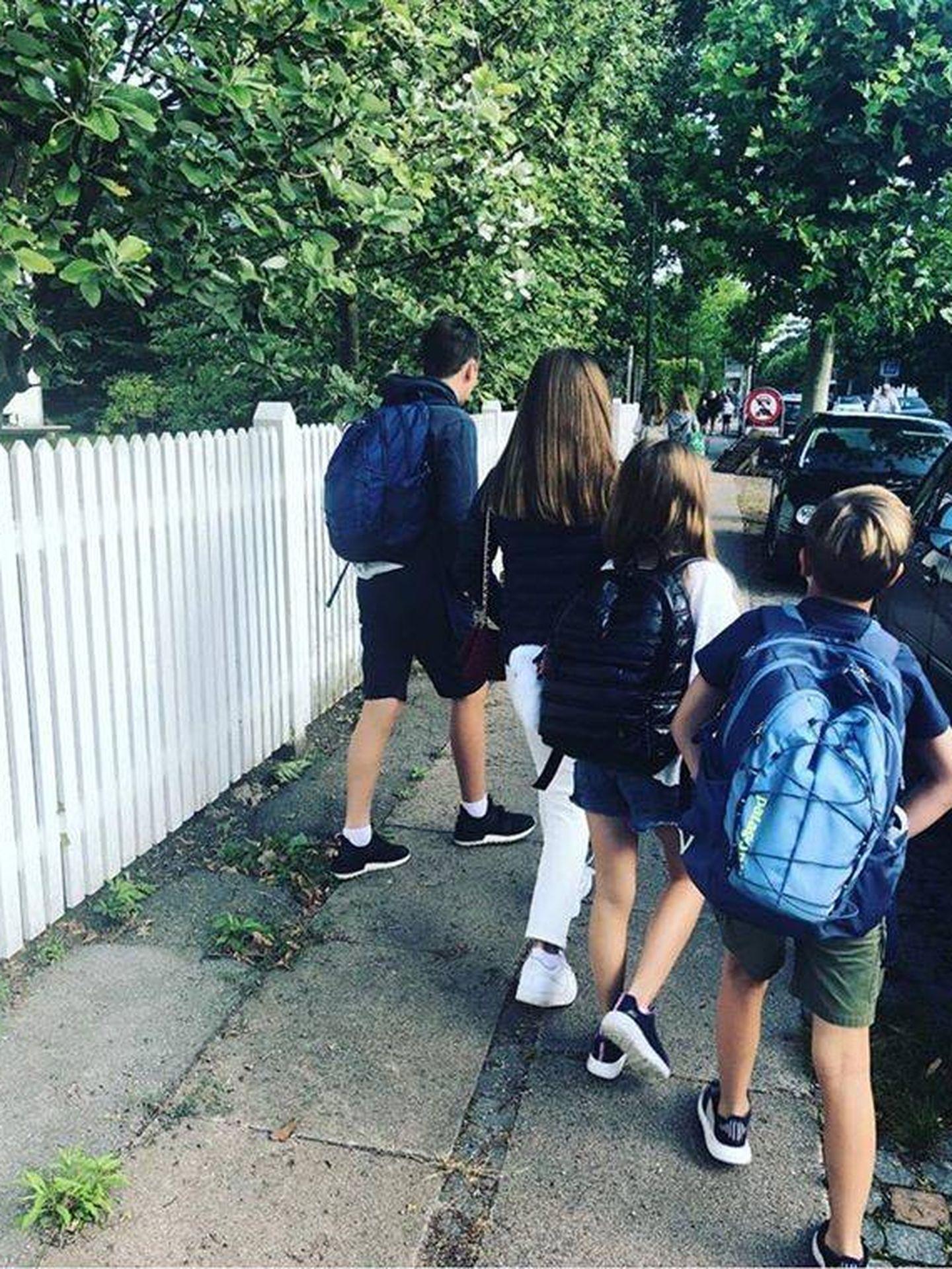 Los hijos de Federico y Mary, volviendo al colegio. (Instagram: @Detdanskekongehus)