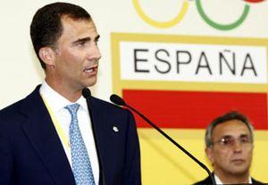 """El Príncipe Felipe anima a los olímpicos españoles al grito de: """"¡A por ellos!"""""""