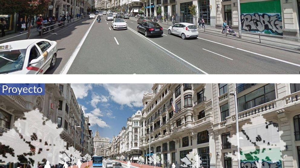La nueva Gran Vía, en imágenes: más aceras, bus lanzadera y restricción del coche privado