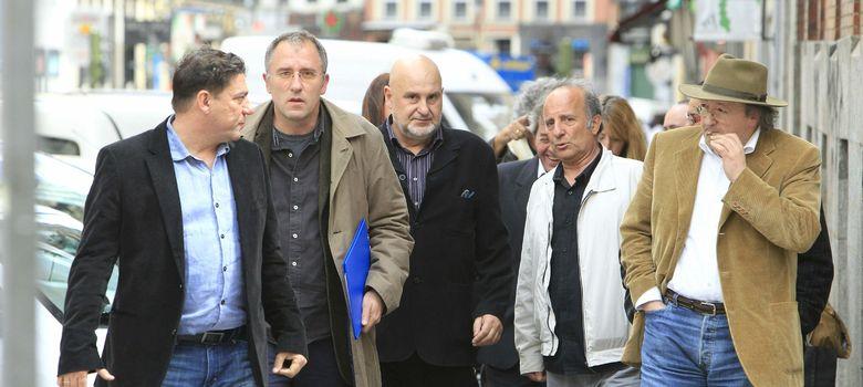 Foto: José Luis Acosta (segundo por la izquierda) junto a Antón Reixa en 2012