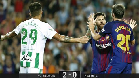 El Barcelona respira hondo, Messi se estrella tres veces contra los postes