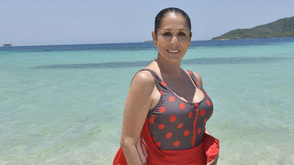 Foto: Isabel Pantoja, en 'Supervivientes'. (Telecinco)
