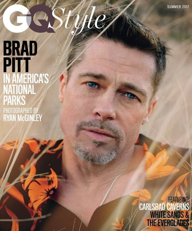 Foto: Una de las portadas de Brad Pitt para 'GQ'.