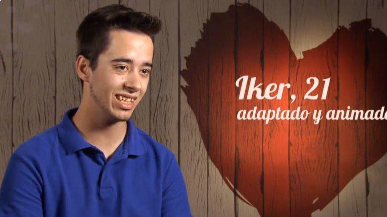 Iker, en su cita en 'First Dates'. (Cuatro)