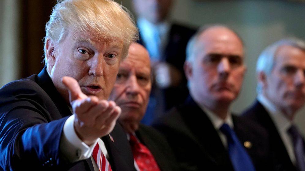 Foto: El presidente de EEUU, Donald Trump, durante una reunión con miembros del Congreso en la Casa Blanca, en Washington. (Reuters)