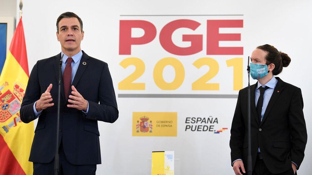Foto: El presidente del Gobierno, Pedro Sánchez, y el vicepresidente, Pablo Iglesias. (EFE)