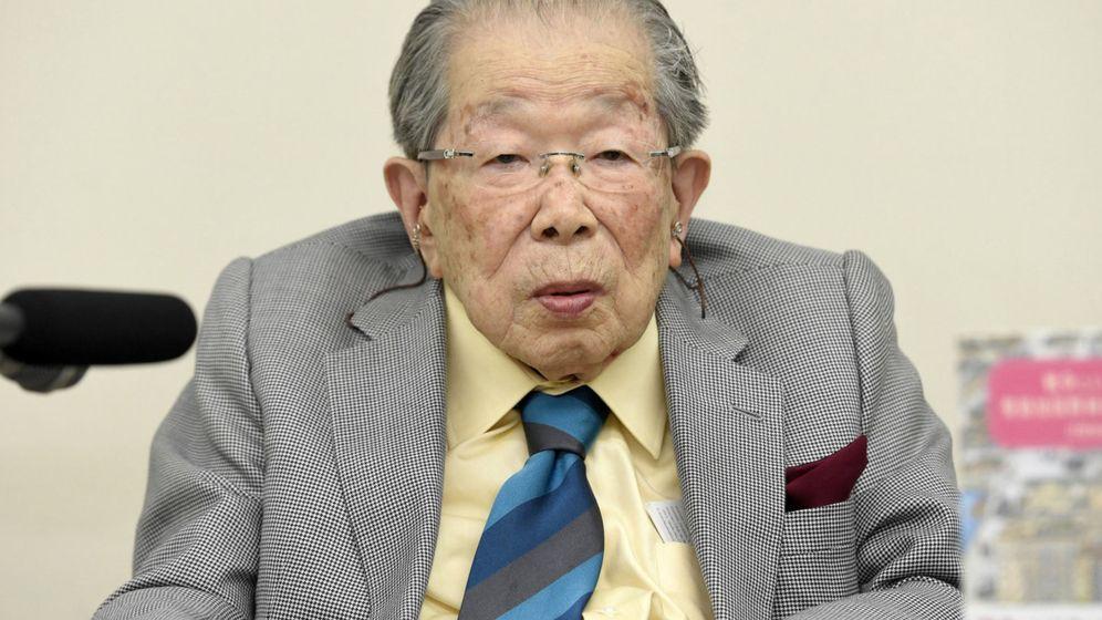 Foto: Shigeaki Hinohara, en una conferencia en 2015, cuando tenía 103 años