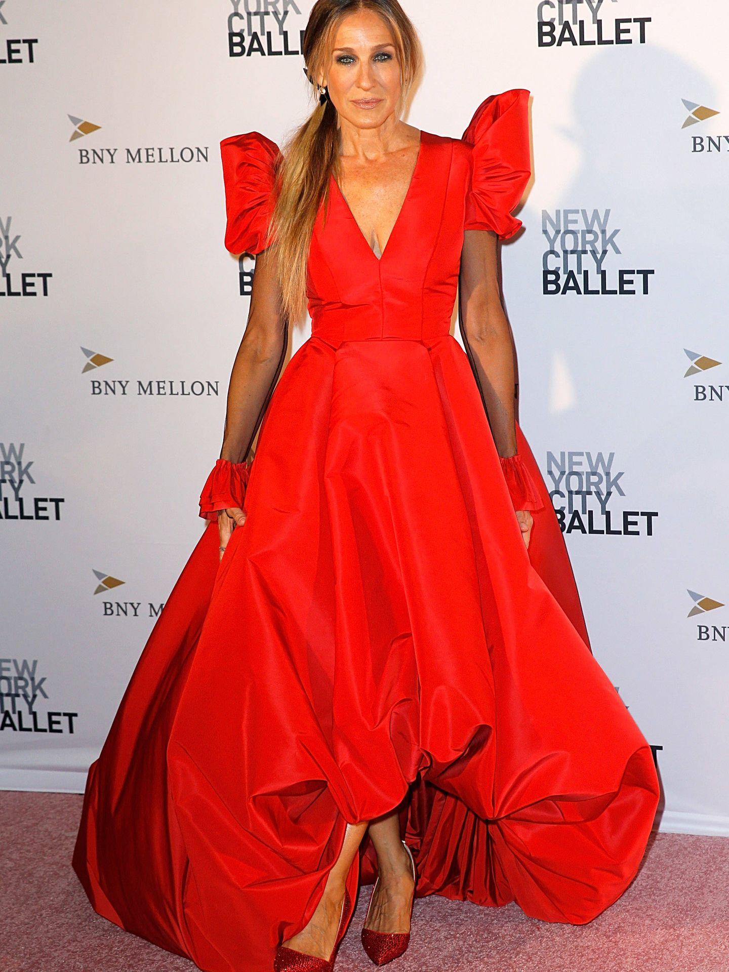 Sarah Jessica Parker en una de sus últimas apariciones en la Fashion Gala del ballet de Nueva York. (Getty)