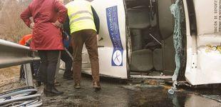 Post de Ocho heridos tras volcar la furgoneta que transportaba a un equipo de baloncesto