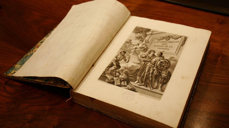Edición de 1780 corregida por Joaquín Ibarra para la RAE de 'el ingenioso hidalgo don quixote de la mancha'