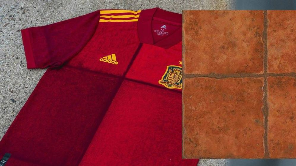 Foto: Una camiseta rústica, la de la Selección española para esta Euro.