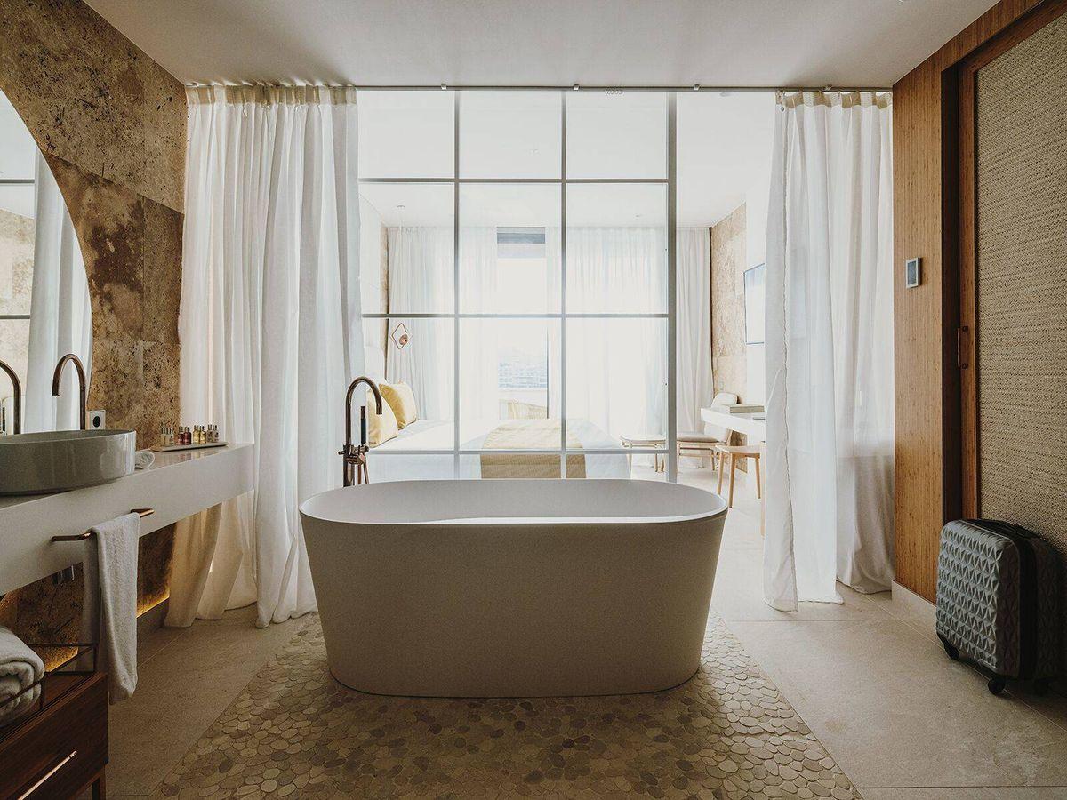 Foto: Las habitaciones de Aguas de Ibiza son dignas de un selfie Kardashian. (Cortesía)