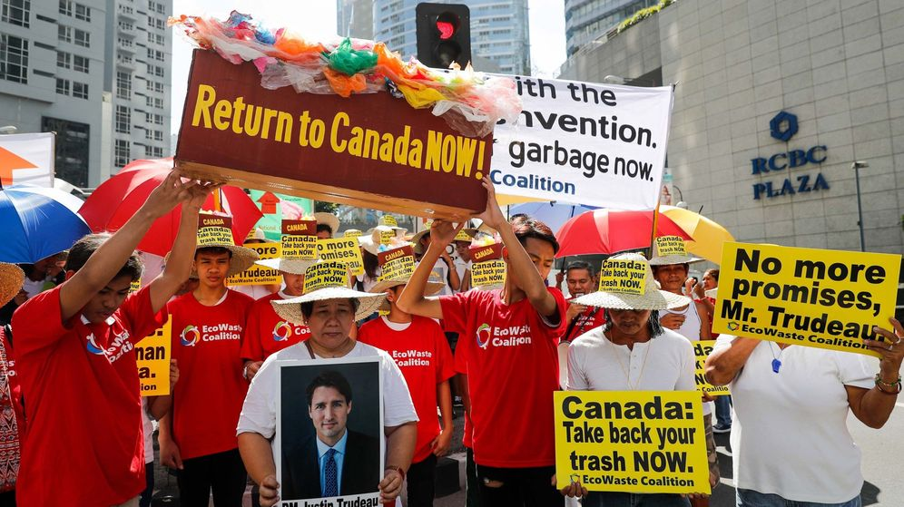 Foto: Protestas en Filipinas contra Canadá. (EFE)