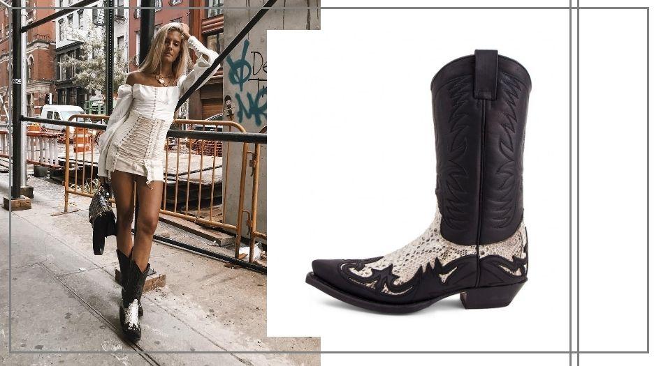 Teresa Andrés con sus botas de Sendra Boots. (Instagram / Cortesía de la marca)