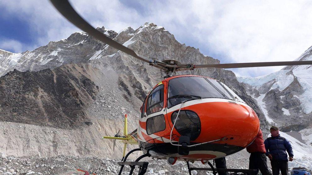 Así se ve una avalancha en el campo base del Everest