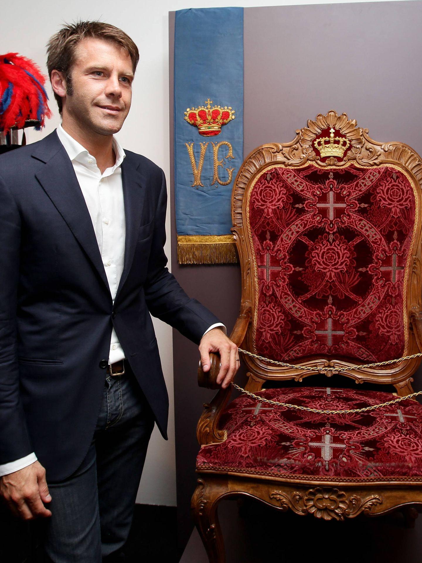 Emanuele Filiberto en la apertura de la exposición 'Casa Savoia'. (Getty)