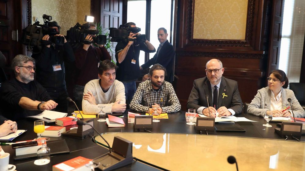 Foto: Reunión de la Junta de Portavoces en el Parlament. (EFE)