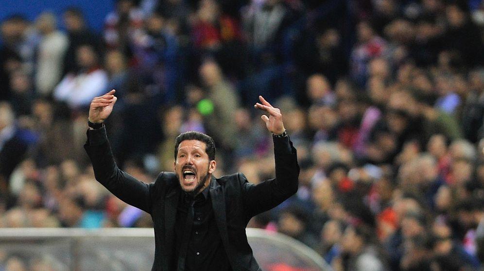 Foto: Simeone durante un encuentro del Atlético (Cordon Press).