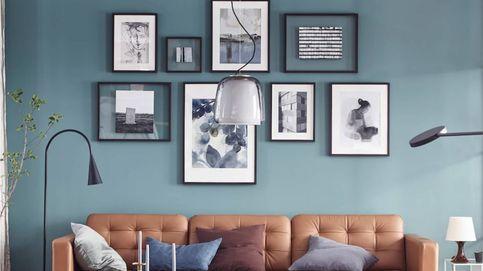 Aprende con Ikea a decorar la pared de tu salón con cuadros y que quede bien