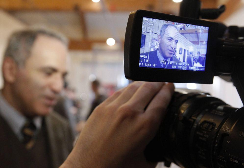 Foto: El ajedrecista y líder opositor ruso Garry Kasparov, durante una entrevista. (Reuters)