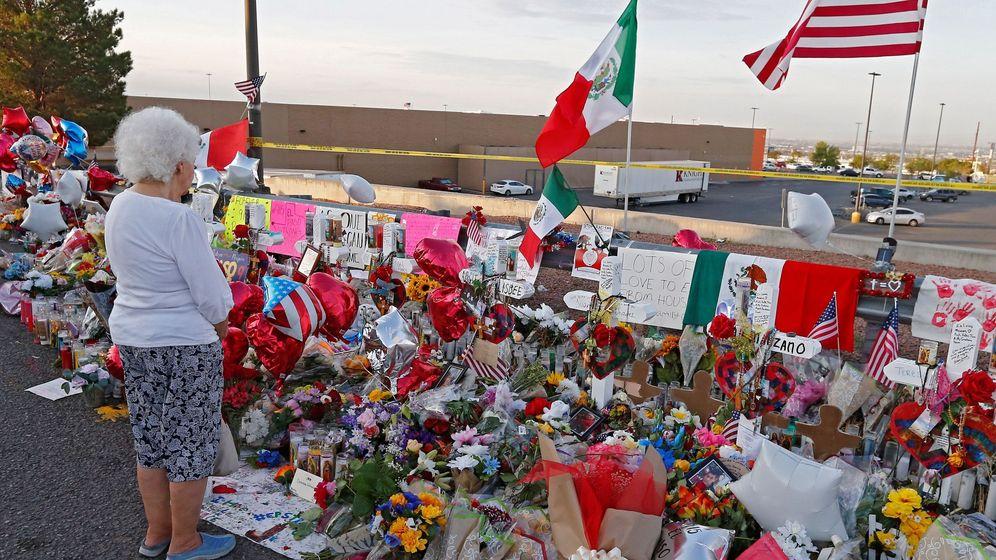 Foto: Homenaje a las víctimas de los atentados de El Paso. (EFE)