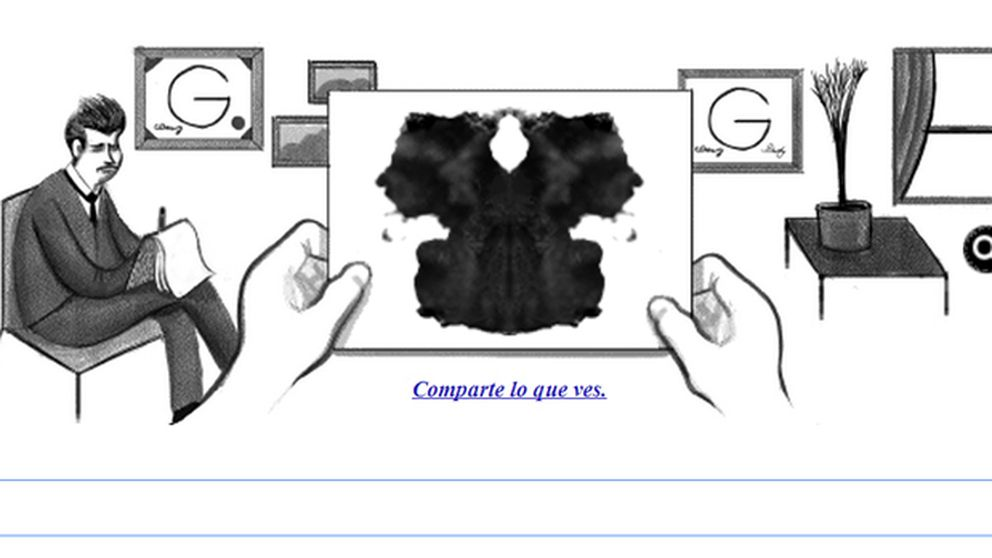 Analiza tu personalidad con el 'doodle' dedicado a Rorscharch