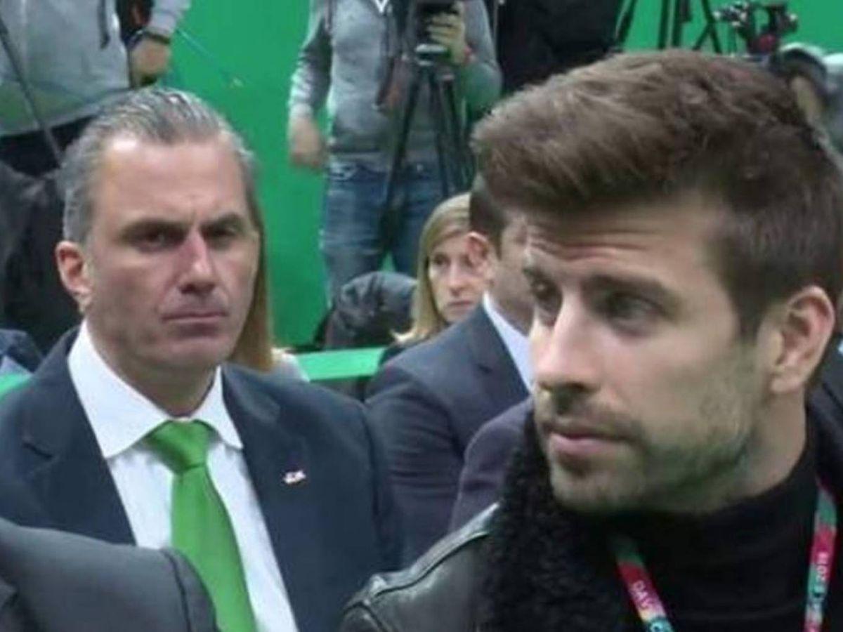 Foto: Javier Ortega Smith y Gerard Piqué en la presentación de la nueva Copa Davis