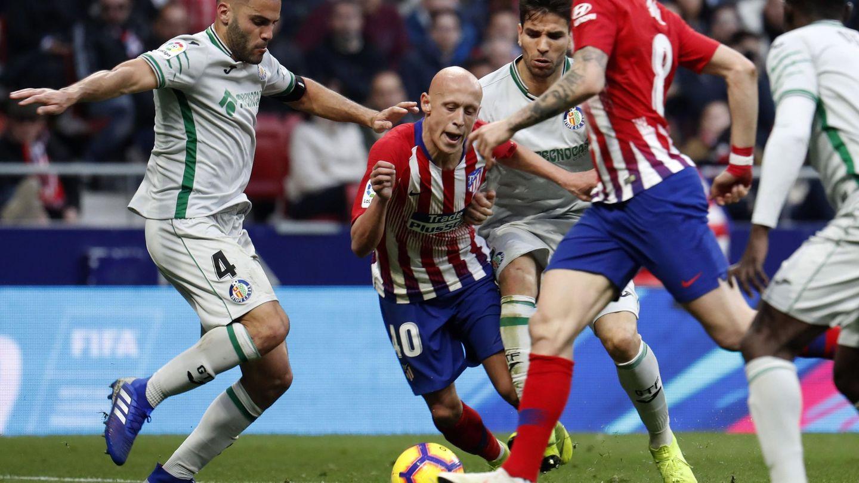 Mollejo jugó media hora en la victoria del Atlético de Madrid ante el Getafe. (EFE)