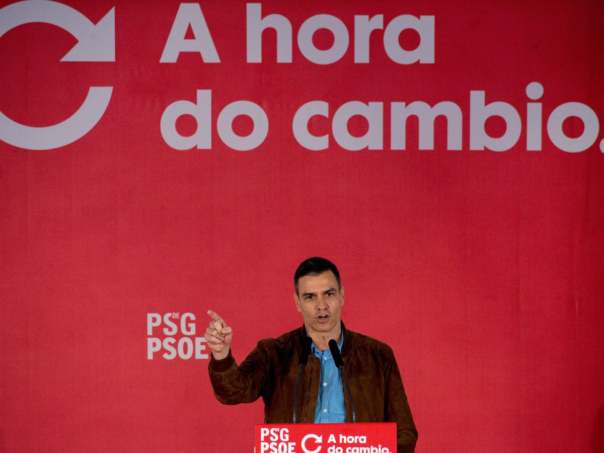 Foto: El presidente del Gobierno y líder del PSOE, Pedro Sánchez, este 27 de junio en Ourense. (EFE)