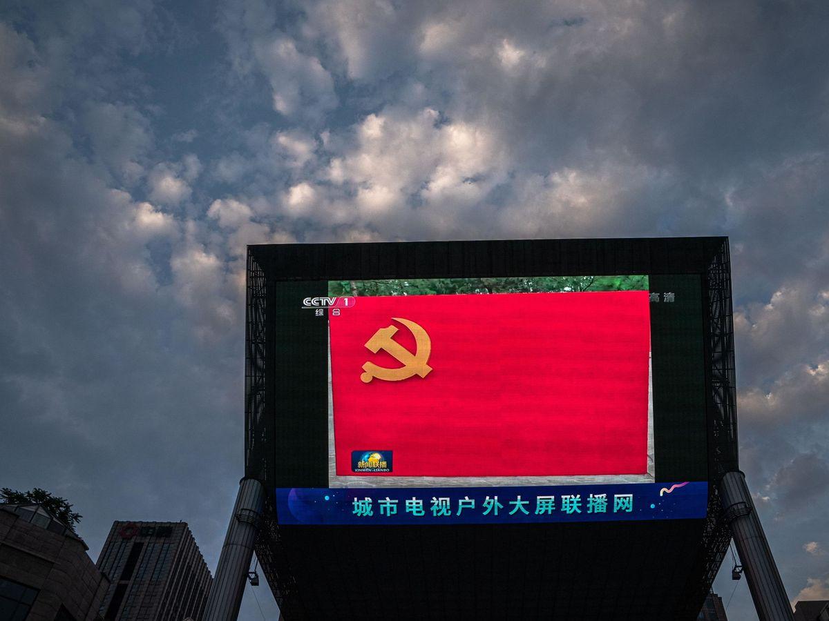 Foto: Bandera del Partido Comunista chino. (Reuters)