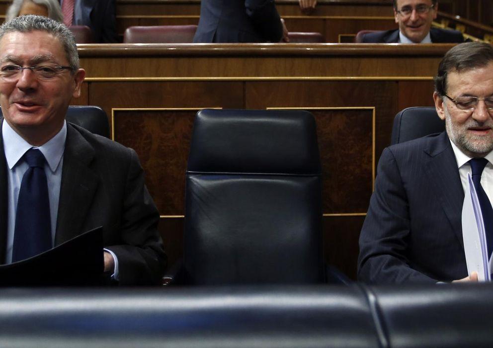 Foto: Alberto Ruiz-Gallardón y Mariano Rajoy, en el Congreso. (Reuters)