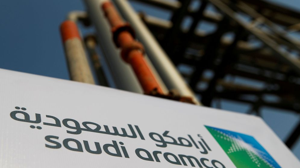 Foto: Saudi aramco logo is pictured at the oil facility in abqaiq (Reuters)
