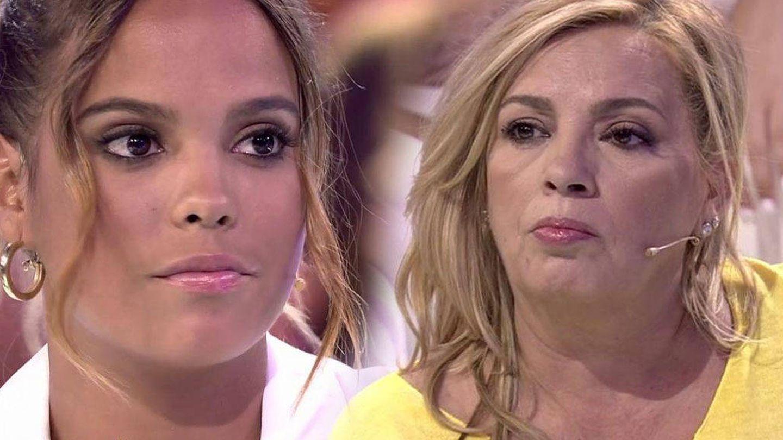 Gloria Camila aclara posturas con Carmen Borrego. (Mediaset España)