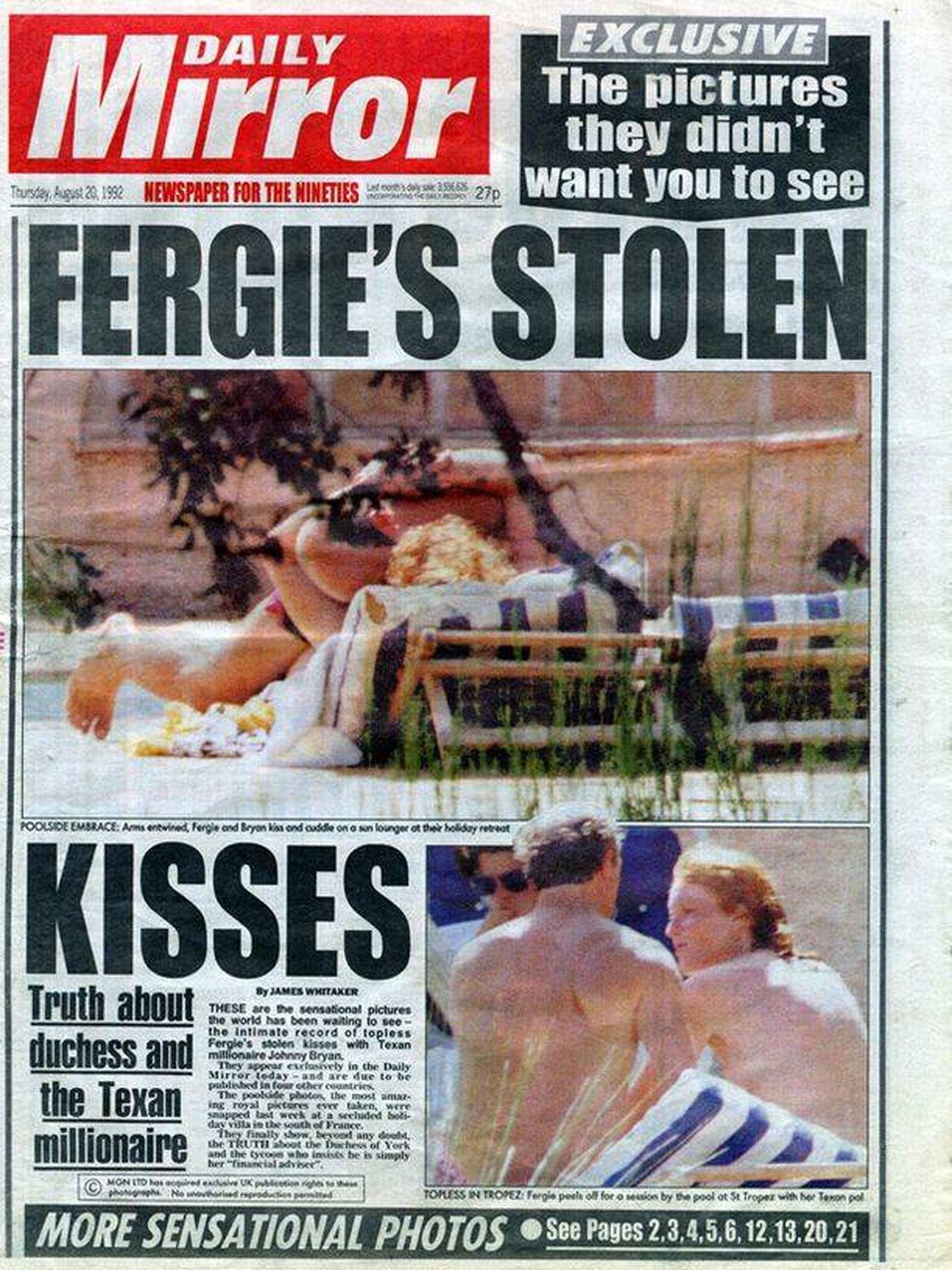 Sarah Ferguson se relaja en la Costa Azul junto a John Bryan. (Daily Mirror)