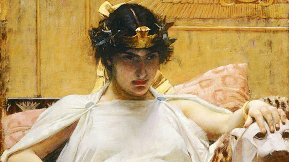 Foto: 'Cleopatra' (1888) según el pintor británico John William Waterhouse.