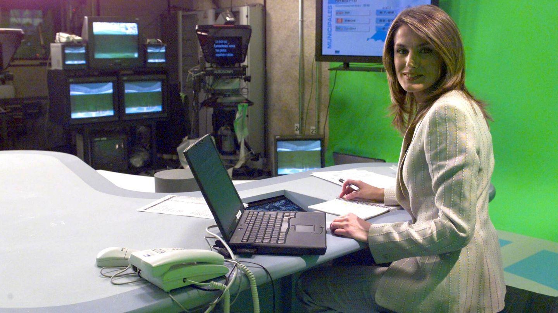 La reina Letizia, durante su etapa como periodista. (TVE)