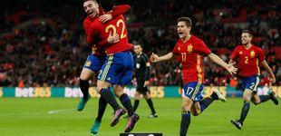 Post de Lopetegui salva su imbatibilidad con un gol de Isco en Wembley en el 96'