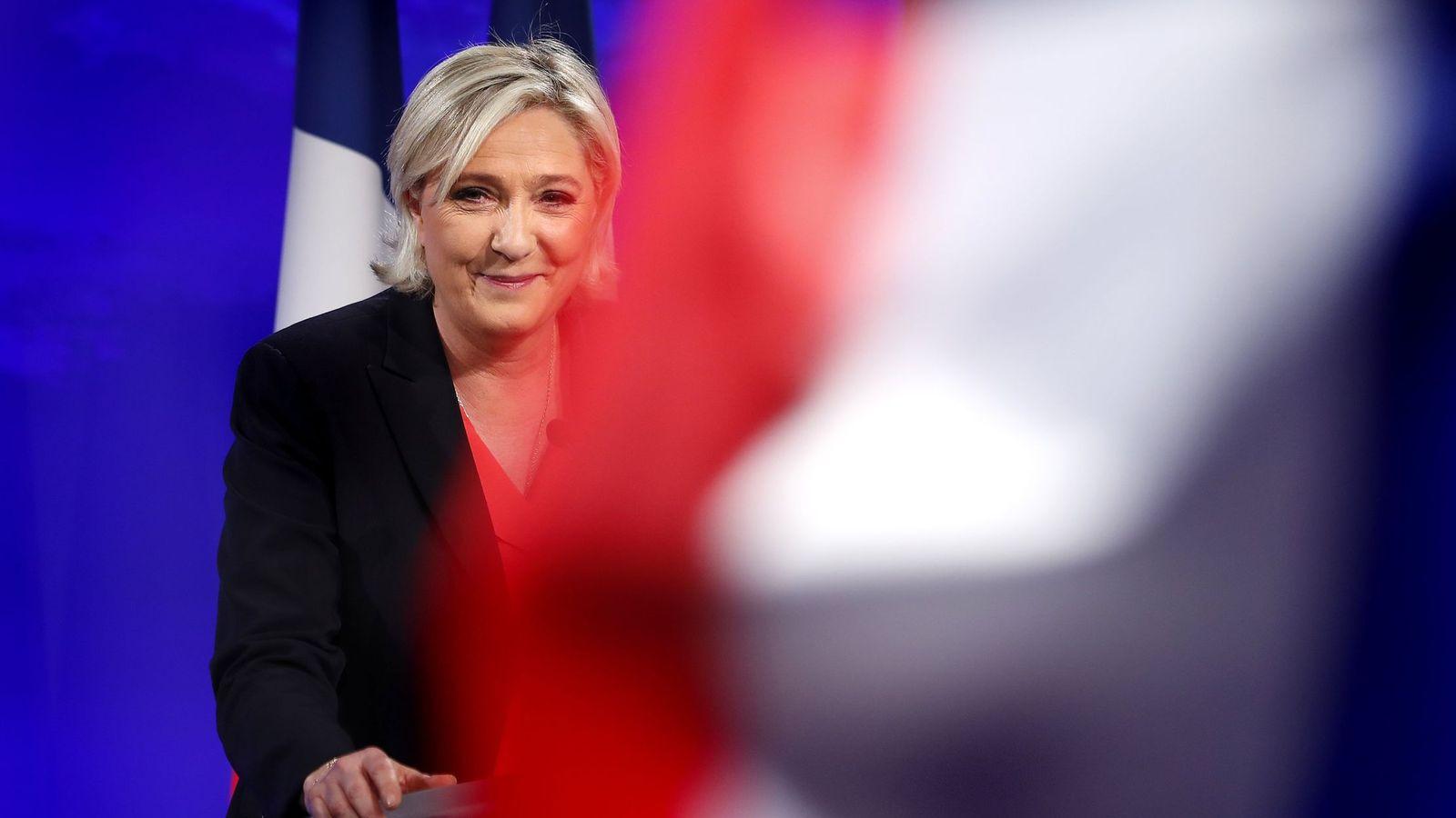 Foto: La candidata del Frente Nacional, Marine Le Pen, tras conocer su derrita. (Reuters)