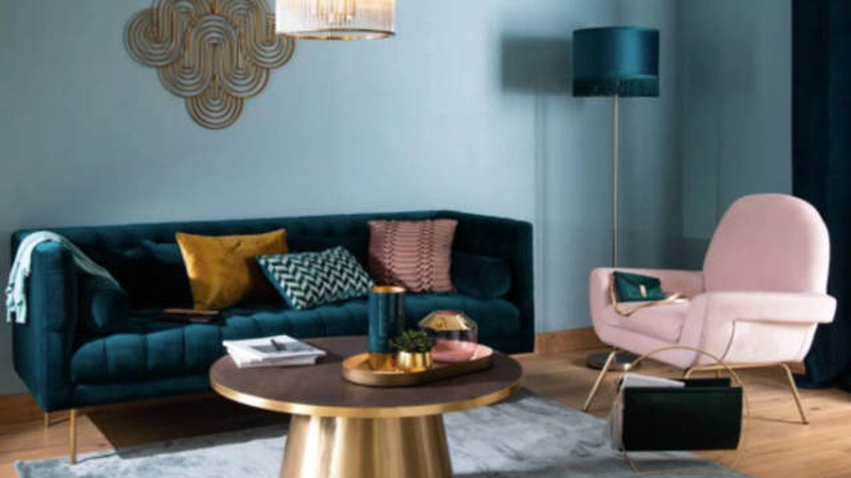 Sofa de Maisons du Monde. (Cortesía)