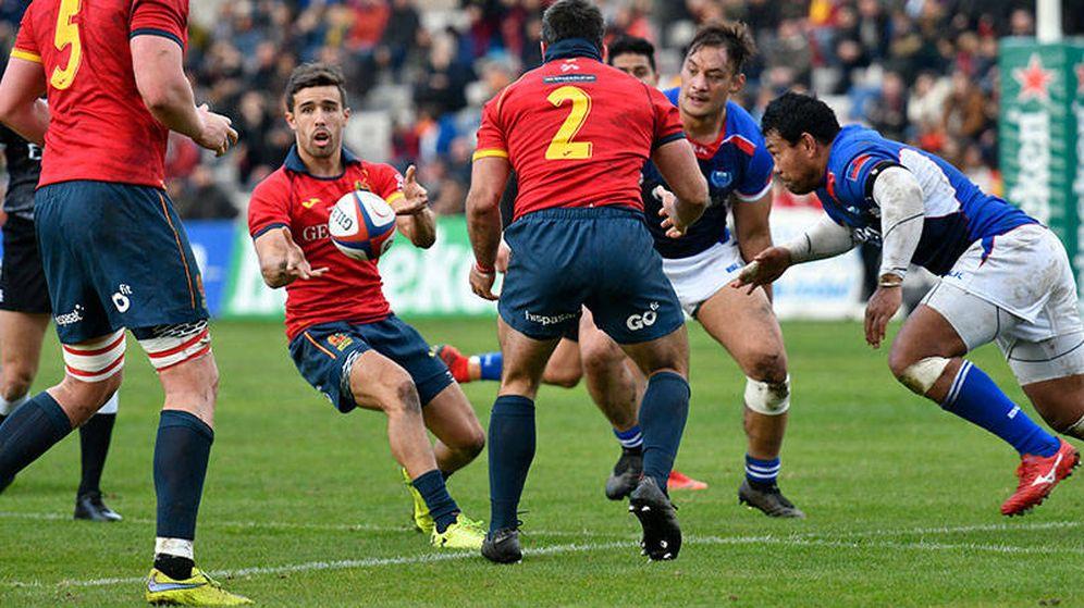 Foto: Imagen del España-Samoa jugado el pasado de noviembre. (Foto: Walter Degirolmo/Ferugby)