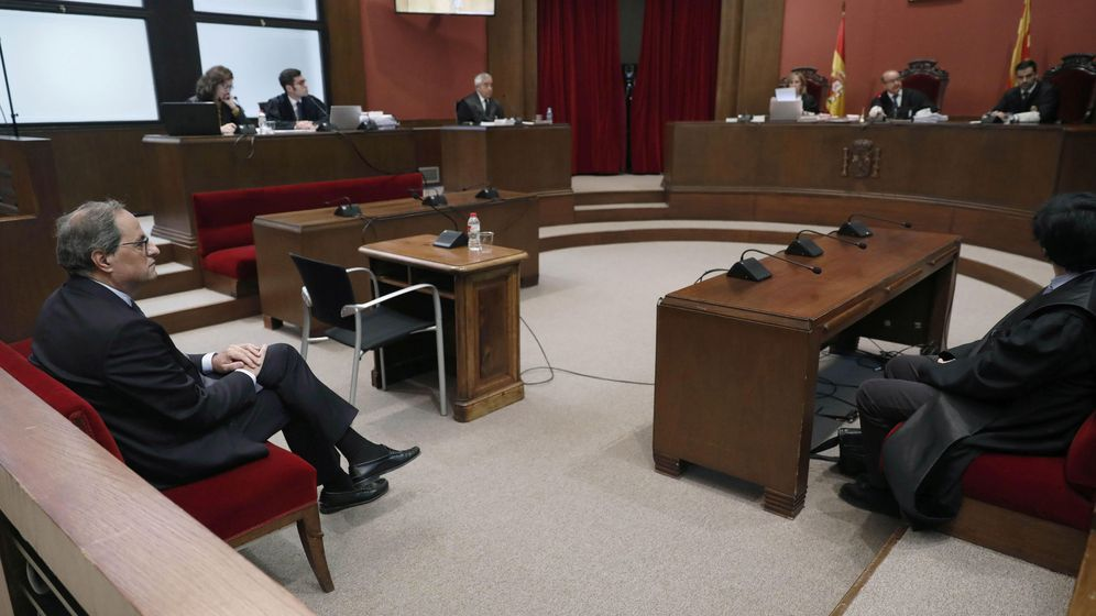 Foto: El presidente de la Generalitat, Quim Torra, en la sesión judicial. (Reuters)