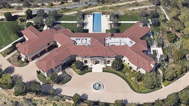 Vista aérea de la casa en la que están instalados Harry y Meghan. (Google)