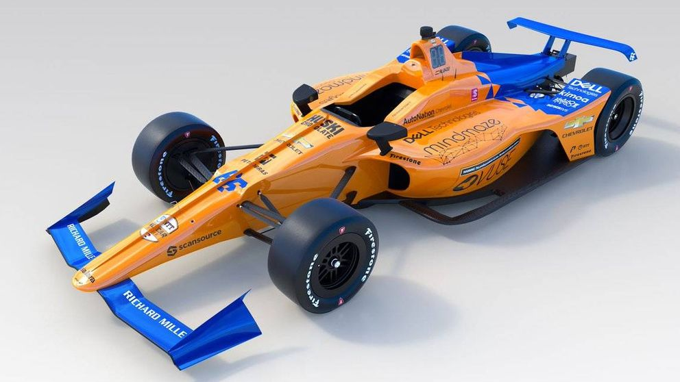 Así es el nuevo McLaren de Fernando Alonso para las 500 Millas de Indianápolis