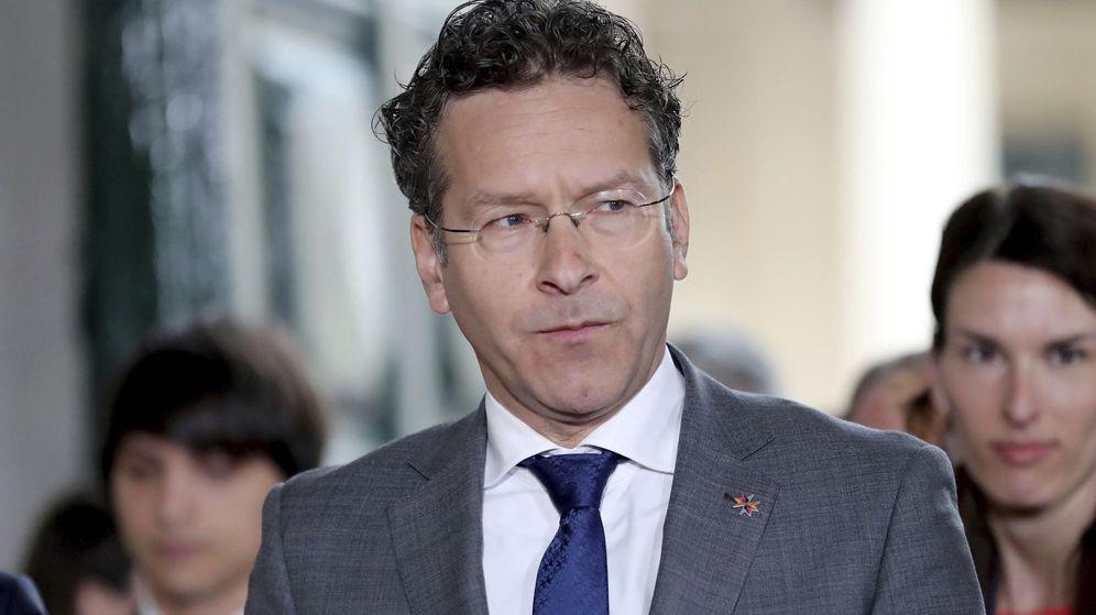 Foto: El presidente del Eurogrupo, Jeroen Dijsselbloem, a su llegada a la reunión informal de ministros de Economía y Finanzas de la Unión Europea. (EFE)