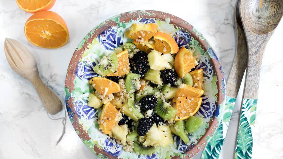 Macedonia de frutas y quinoa, una combinación veraniega muy saludable
